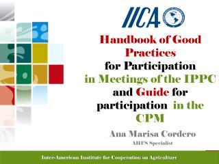Ana Marisa Cordero AHFS Specialist