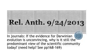 Rel.  Anth . 9/24/2013
