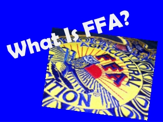 Supporting FFA   Agricultural Education