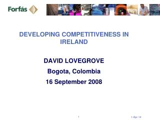 DEVELOPING COMPETITIVENESS IN IRELAND