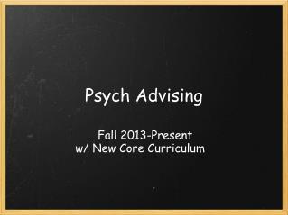 Psych Advising