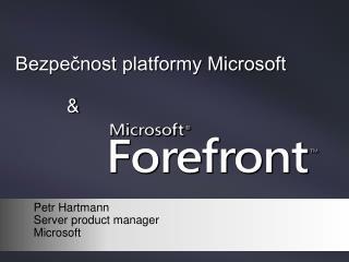 Bezpečnost platformy Microsoft &