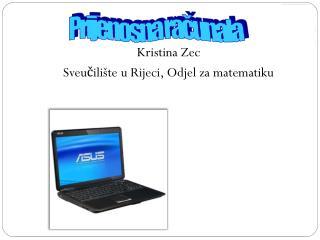 Kristina Zec Sveučilište u Rijeci, Odjel za matematiku