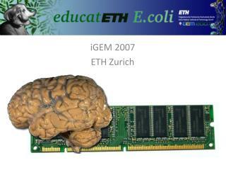 iGEM 2007 ETH Zurich