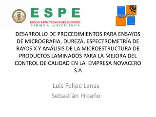 Luis Felipe Lanas  Sebastián  Proaño