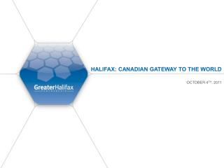 Halifax: Canadian Gateway to the World