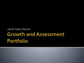 Growth and Assessment Portfolio