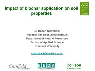Impact of biochar application on soil properties