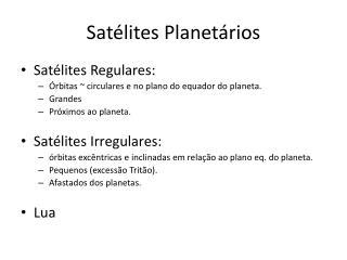Satélites Planetários