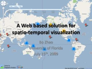 A Web based solution for  spatio-temporal visualization