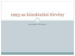 1993-as közoktatási törvény