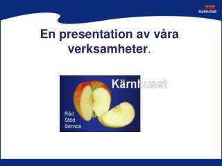 En presentation av våra verksamheter .