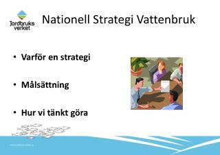 Nationell Strategi Vattenbruk
