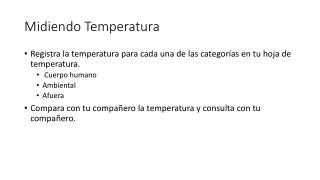 Midiendo Temperatura