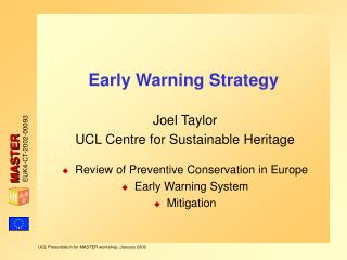 Early Warning Strategy