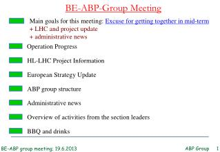 BE-ABP-Group Meeting