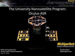 The University  Nanosatellite  Program: Oculus-ASR