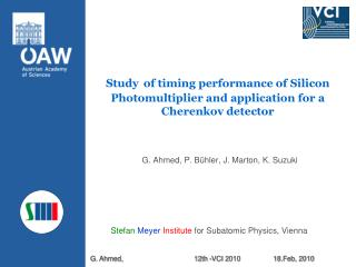 Study of timing performance of Silicon Photomultiplier and application for a Cherenkov detector