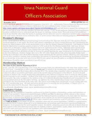 Iowa National Guard  Officers Association