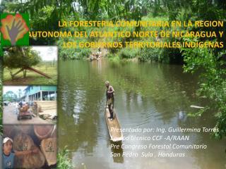 Presentado por: Ing. Guillermina Torres  Equipo técnico CCF -A/RAAN