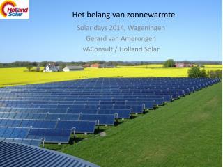 Het belang van zonnewarmte