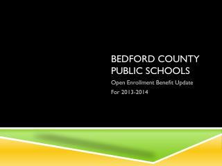 BEDFORD COUNTY PUBLIC SCHOOLS
