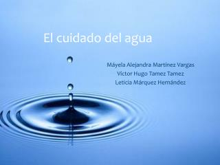 El cuidado del agua
