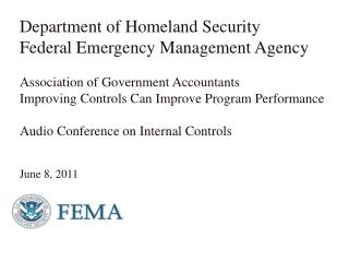 Department of Homeland Security Federal Emergency Management Agency