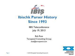 Ibischk  Parser History Since 1993