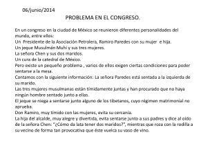 PROBLEMA EN EL CONGRESO.