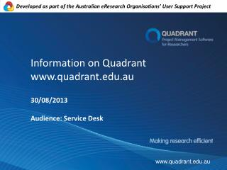 Information on Quadrant quadrant.au