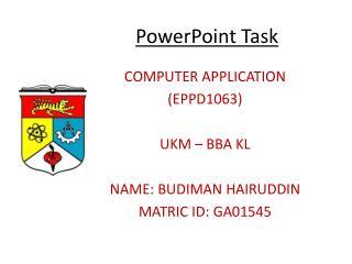 PowerPoint Task
