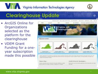Clearinghouse Update