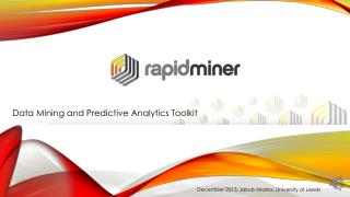 Data Mining and Predictive Analytics Toolkit