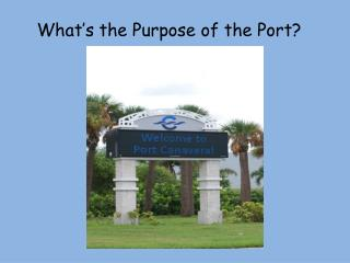 What s the Purpose of the Port