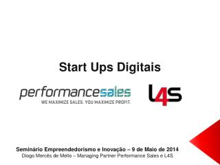 Start Ups  Digitais