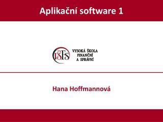 Aplikační software 1