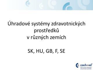 Úhradové systémy zdravotnických prostředků v různých zemích SK, HU, GB, F, SE