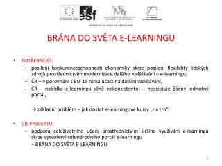 BRÁNA DO SVĚTA E-LEARNINGU