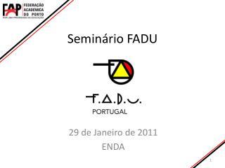 Seminário FADU