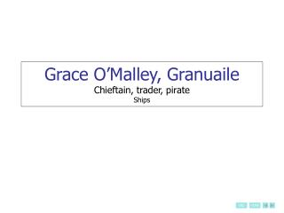 Grace O Malley, Granuaile Chieftain, trader, pirate Ships