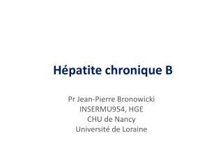 Hépatite chronique B