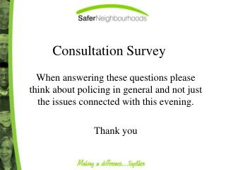 Consultation Survey