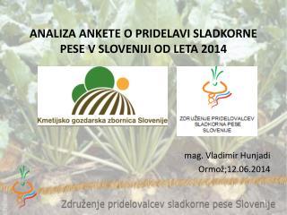 ANALIZA ANKETE O PRIDELAVI SLADKORNE PESE V SLOVENIJI OD LETA 2014