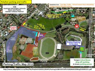 Polyfest  parking and traffic