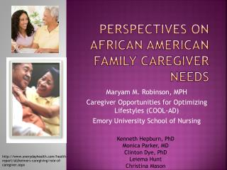Perspectives on African American Family Caregiver Needs