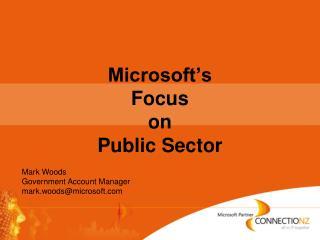 Microsoft s Focus on Public Sector