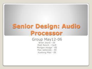 Senior Design: Audio Processor