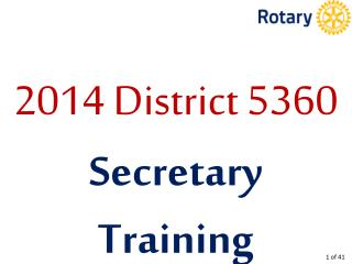 2014 District 5360