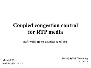 Coupled congestion control for RTP media